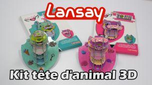 Lansay Kit tête animal 3D à monter : Création déco DIY enfant