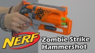 On a tiré avec le Nerf Hammershot