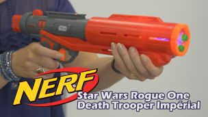 On a tiré avec le Nerf Star Wars Deluxe Imperial Death Trooper