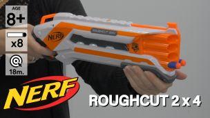 On a tiré avec le Nerf Rough Cut