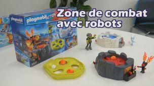 On a construit la zone de combat avec robots