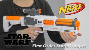 On a tiré avec le Nerf Star Wars StormTrooper