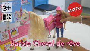 On a joué avec le cheval de rêve de Barbie