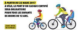 Le casque à vélo est obligatoire jusqu'à 12 ans !