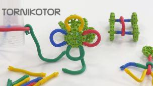 Tornikotor : Jeu de construction enfant avec barres flexibles
