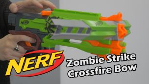 On a tiré avec le Nerf Crossfire Bow