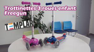 Trottinette 3 roues Freegun Templar pour fille et garçon dès 3 ans
