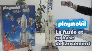 On a construit la fusée et sa base de lancement