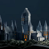 L'école de Poudlard reconstruite grâce aux pages du livre Harry Potter