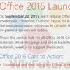 Office 2016, dans les bacs le 22 septembre prochain ?