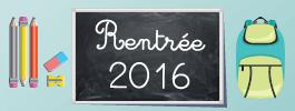 Rentr�e 2016 : fournitures scolaires et v�tements enfant