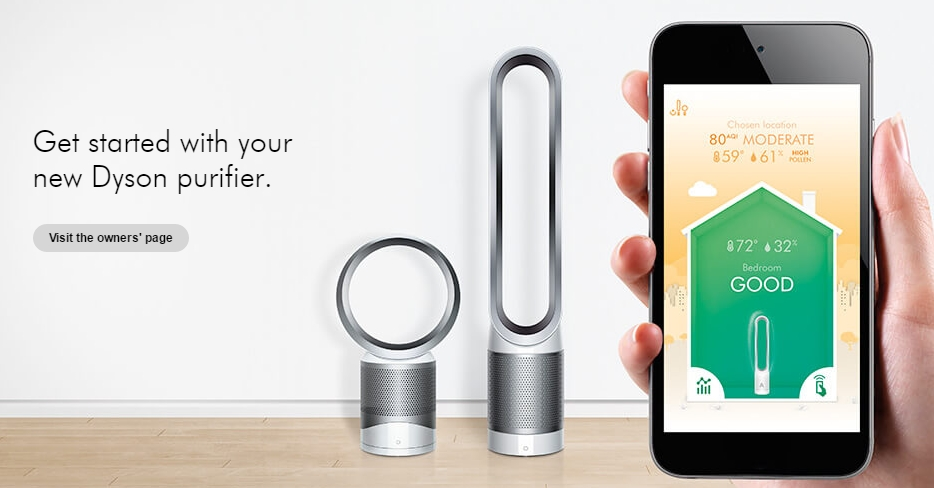 dyson pure cool link un purificateur d air connect. Black Bedroom Furniture Sets. Home Design Ideas