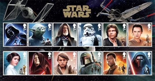 Les personnages de la saga star wars sur des timbres - Personnage star wars 7 ...