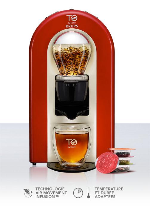 lipton t o apr s les capsules nespresso la machine th. Black Bedroom Furniture Sets. Home Design Ideas