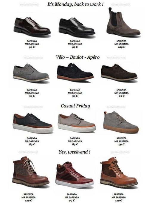 emballage élégant et robuste offres exclusives prix attractif Mr Sarenza : Nouvelle marque de chaussure pour homme