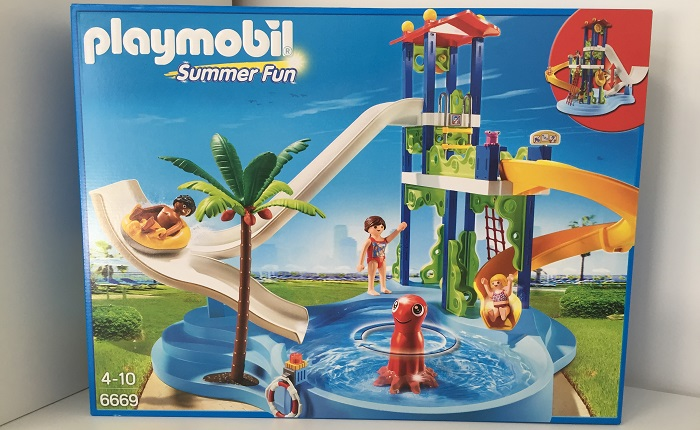 Playmobil 6669 summer fun parc aquatique avec toboggans for Playmobil piscine toboggan