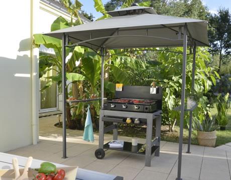 Tonnelle barbecue comparer les prix avec for Abri pour cuisine exterieure